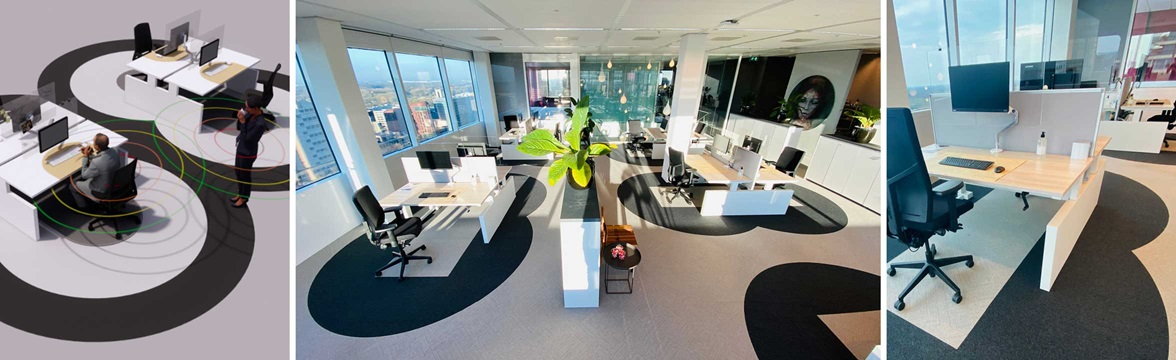 The Six Feet Office Project by Cushman & Wakefield in Amsterdam.