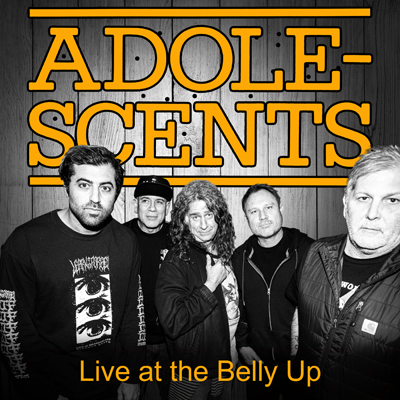 Adolescents - Live at the Belly Up show cover thumbnail