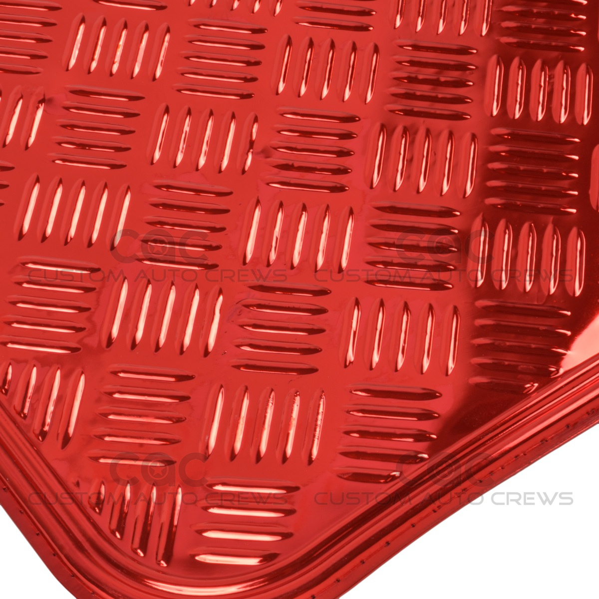 Red Metallic Rubber Floor Mats Set 4pc Car Interior Set Hd
