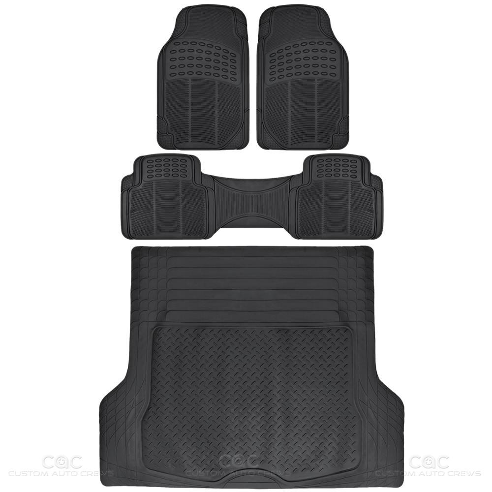 All Weather Rubber Floor Mat Car Truck Black Interior