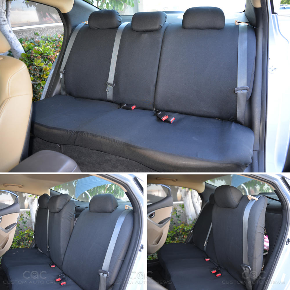 beige black seat cover set for car auto suv polyester cloth 60 40 split bench ebay. Black Bedroom Furniture Sets. Home Design Ideas
