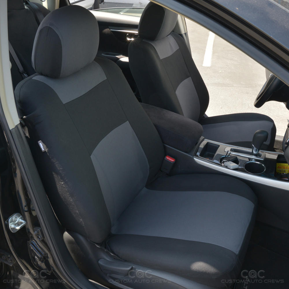Charcoal / Black Seat Cover For Car Auto SUV Polyester