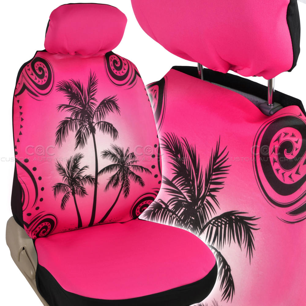 Pink Palm Tree Seat Cover For Car Suv Front Rear Set Ebay