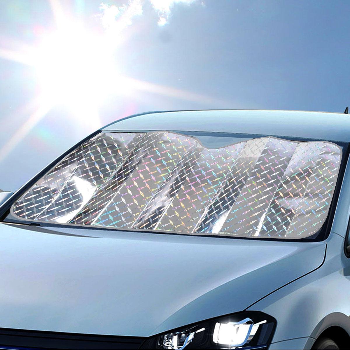 REFLECTIVE LAZER PLATE Car Sun Shade Jumbo Reversible