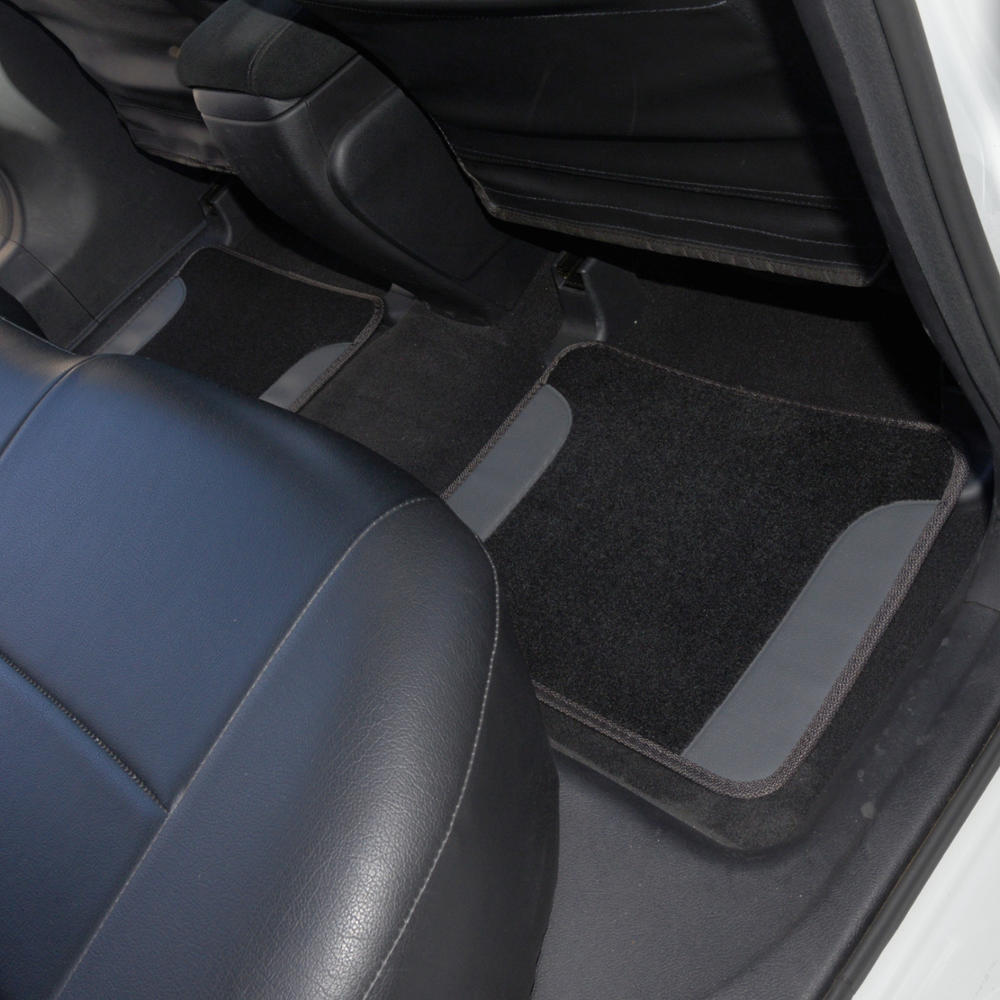 Black Amp Charcoal Gray Pu Leather Car Seat Covers W Vinyl