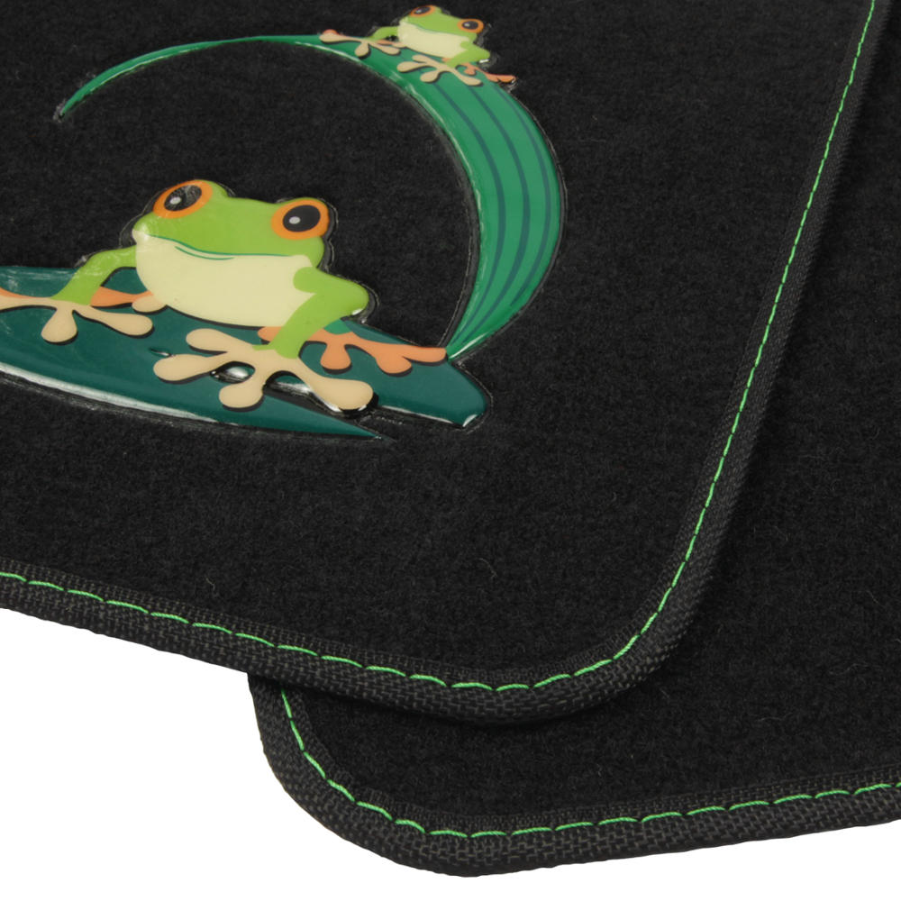 4 Pc Green Frog Auto Carpet Floor Mats For Car Suv Truck