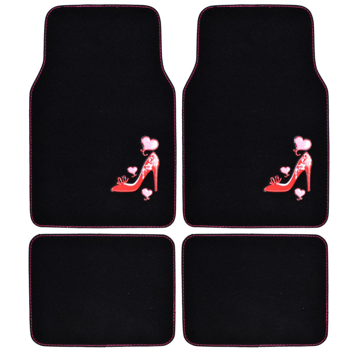 Custom Carpet Floor Mats, 4 PC Car Accessories For Girls