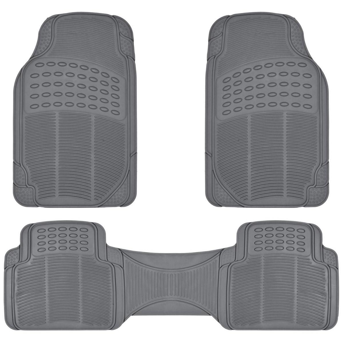 Rubber Liner For Honda CR-V Floor Mats Gray 3 Piece Semi