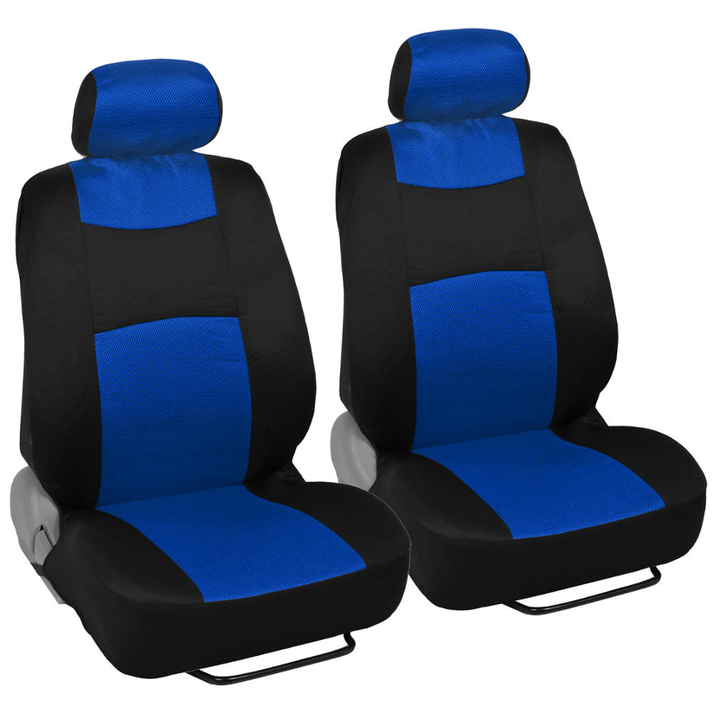 9pc Car Seat Covers Blue Split Option Bench Cool Mesh