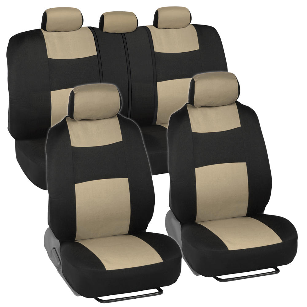 Tremendous Details About Car Seat Covers For Nissan Sentra 2 Tone Beige Black W Split Bench Machost Co Dining Chair Design Ideas Machostcouk