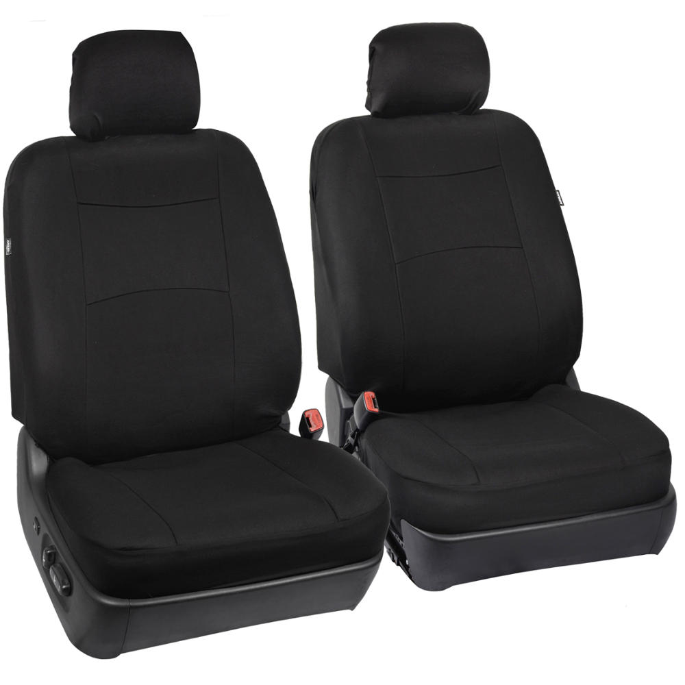 car seat covers black polyester cloth front rear split bench 9 pc full set. Black Bedroom Furniture Sets. Home Design Ideas