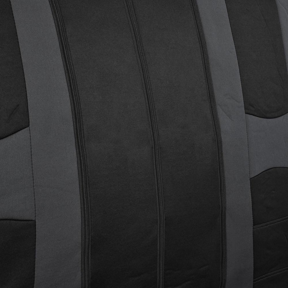 Charcoal Gray Stripe Black Car Seat Covers Auto Interior