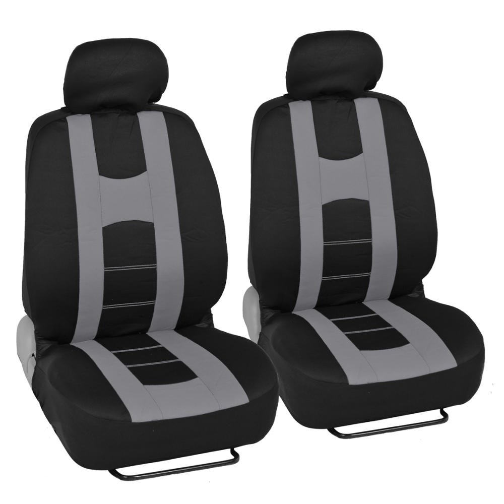 Car Seat Covers Sport Stripes Black And Gray Front And
