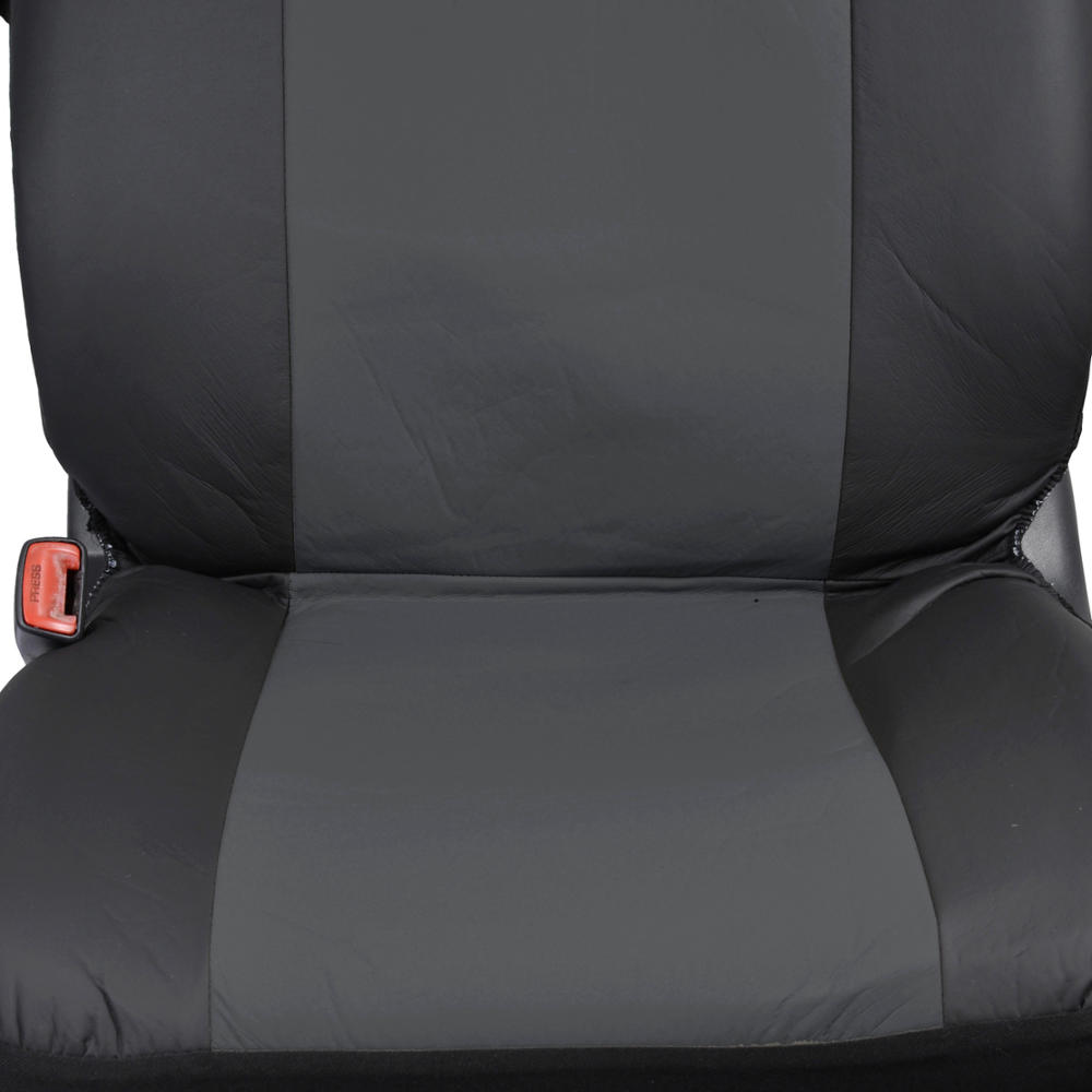 gray synthetic leather car seat covers