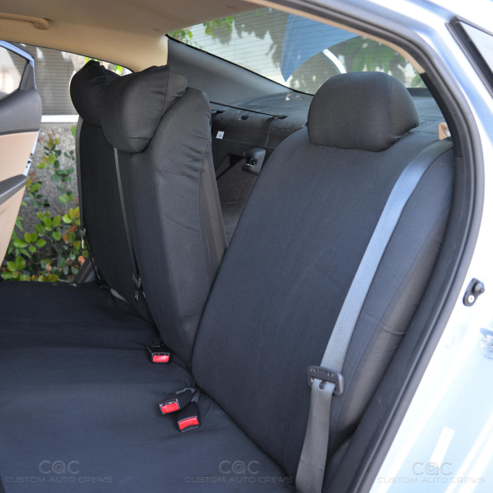 Black Bench Seat Covers For Car Auto Suv Polyester Cloth