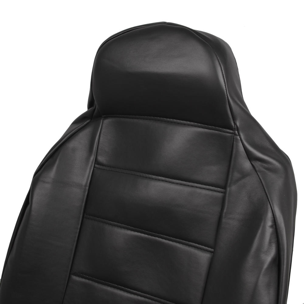 2pc Black Pu Leather Car Seat Covers High Back Armrest