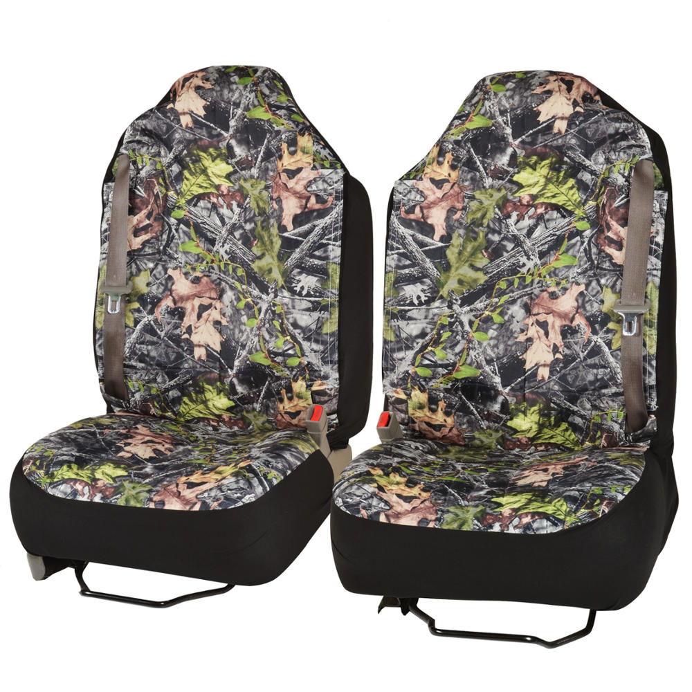 High Back Camo Truck Seat Cover Integrated Seatbelt For