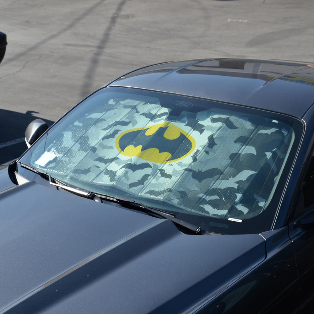 1 piece batman sunshade front windshield reflective backing auto shade. Black Bedroom Furniture Sets. Home Design Ideas
