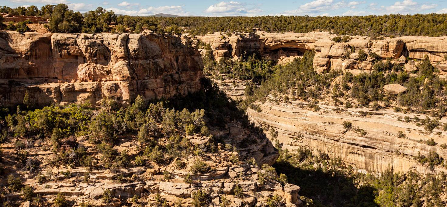 Driving through Mesa Verde National Park, Montezuma County, Colorado