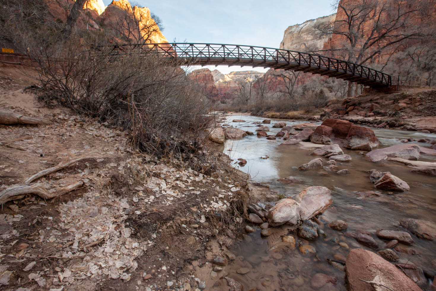 Sunrise at Zion National Park, UT in the Wintertime #vezzaniphotography