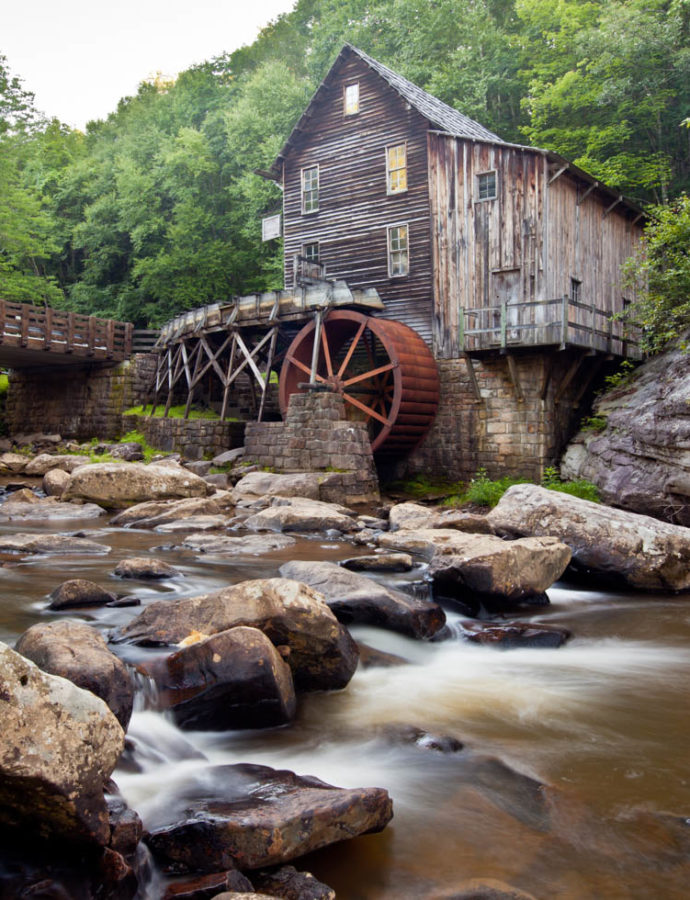 Finding the Glade Creek Grist Mill in Babcock State Park, West Virginia