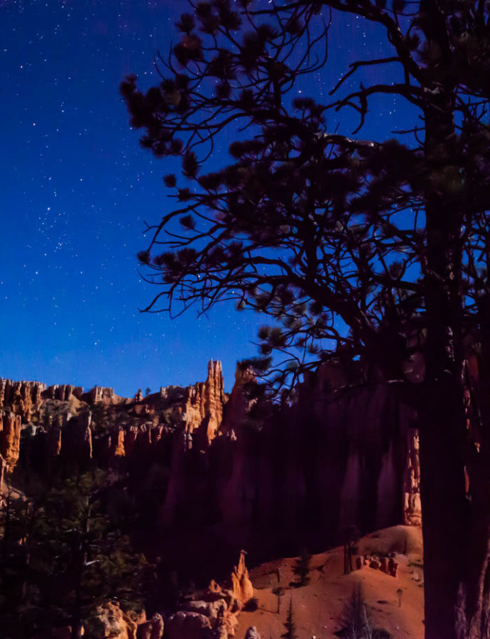 Stargazing on the Fairyland Trail at Bryce Canyon National Park