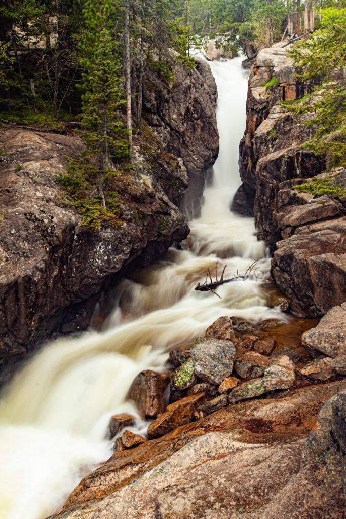 Chasm Falls, Rocky Mountain National Park, Colorado #vezzaniphotography