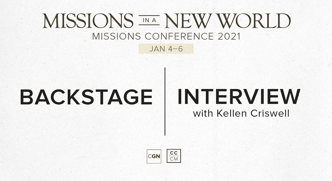 Backstage Interview with Kellen Criswell