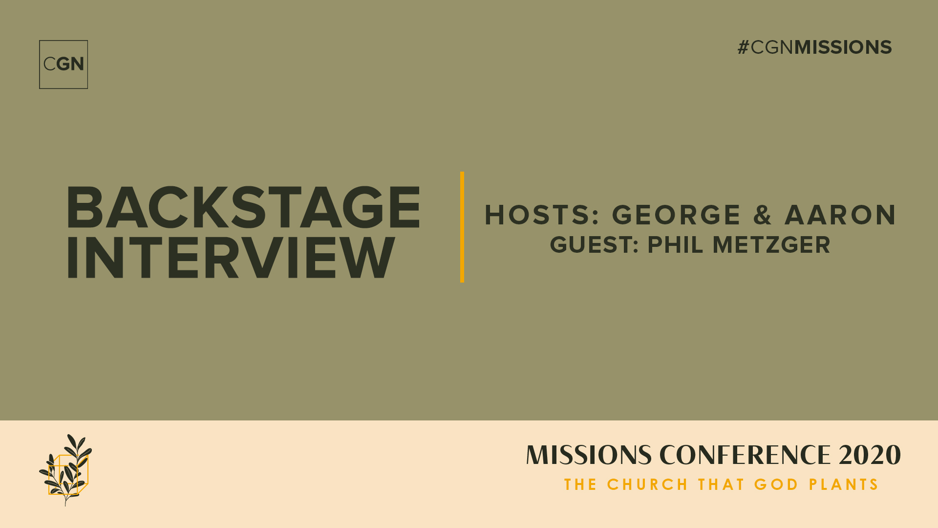 Backstage Interview: Phil Metzger