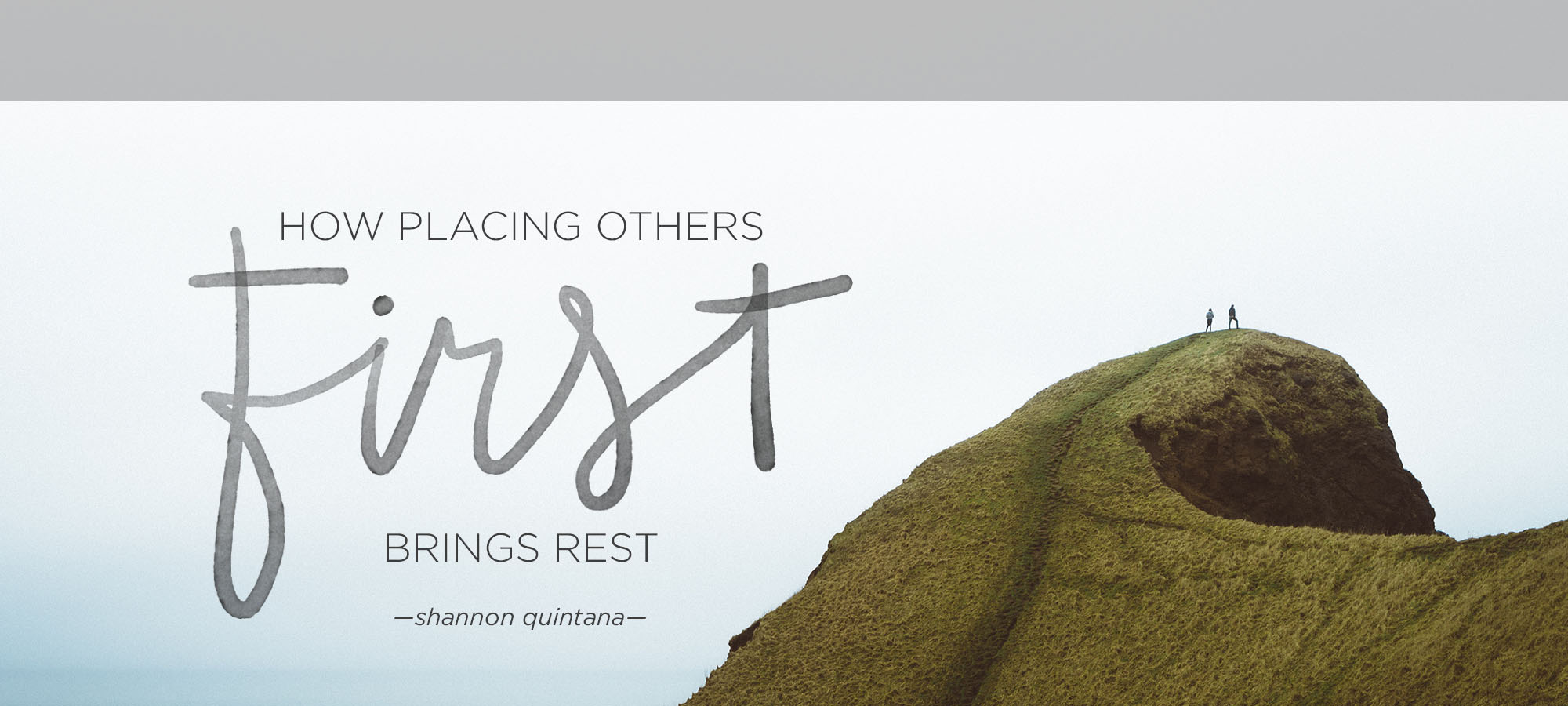 How Placing Others First Brings Rest