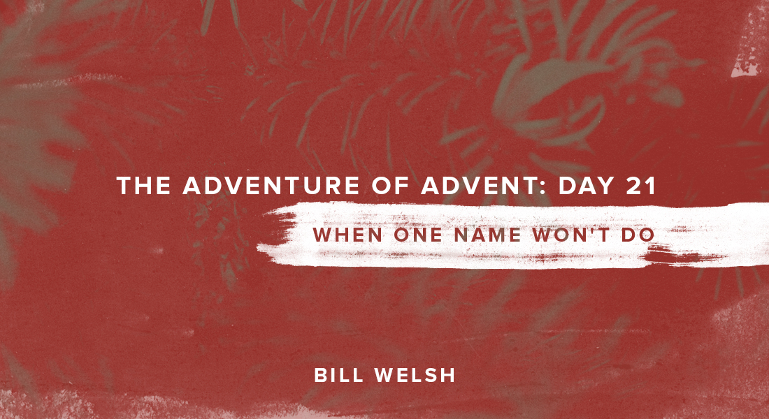 The Adventure of Advent: Day 21 – When One Name Won't Do