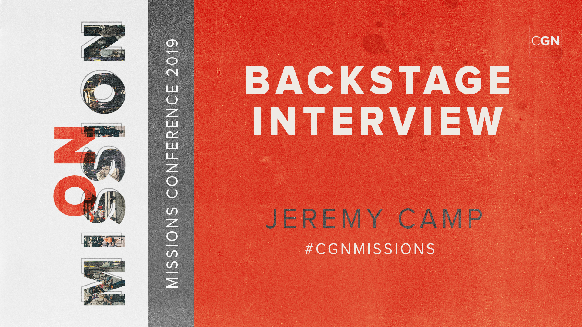 Backstage Interview - Jeremy Camp