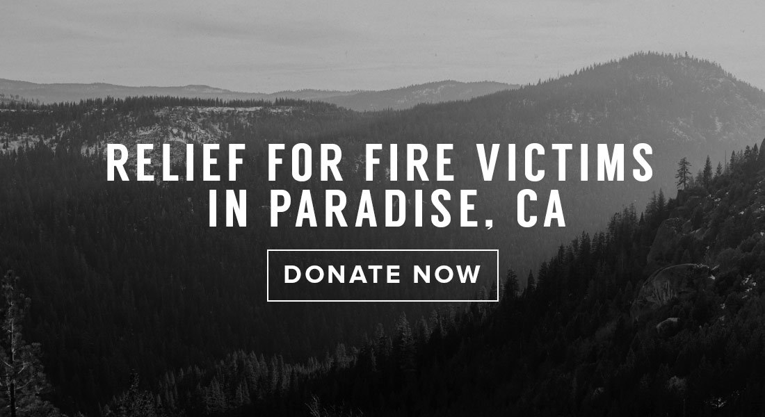 Relief for fire victims in Paradise, CA