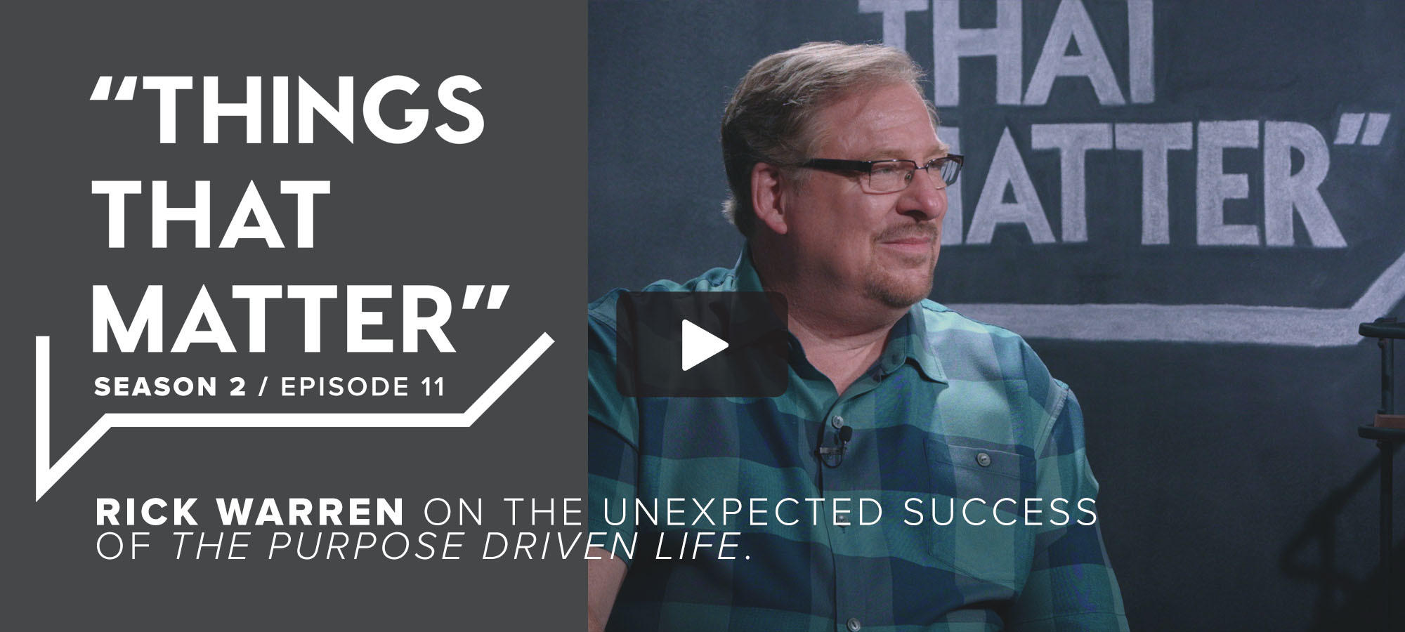 TTM S2 E11 - Rick Warren on the Unexpected Success of The Purpose Driven Life