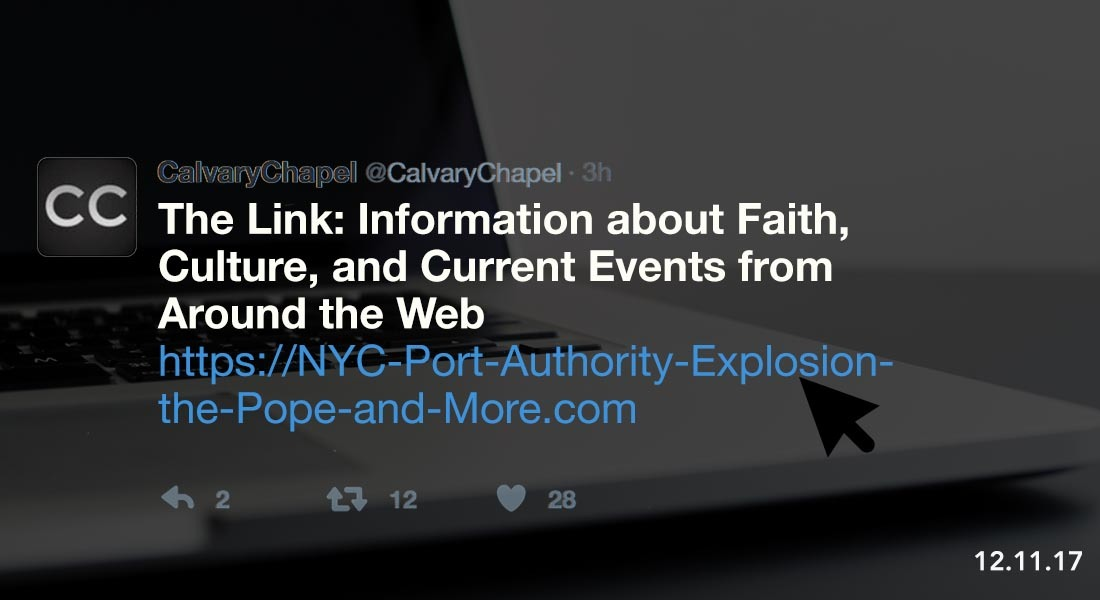 The Link: Port Authority Explosion, the Pope and More