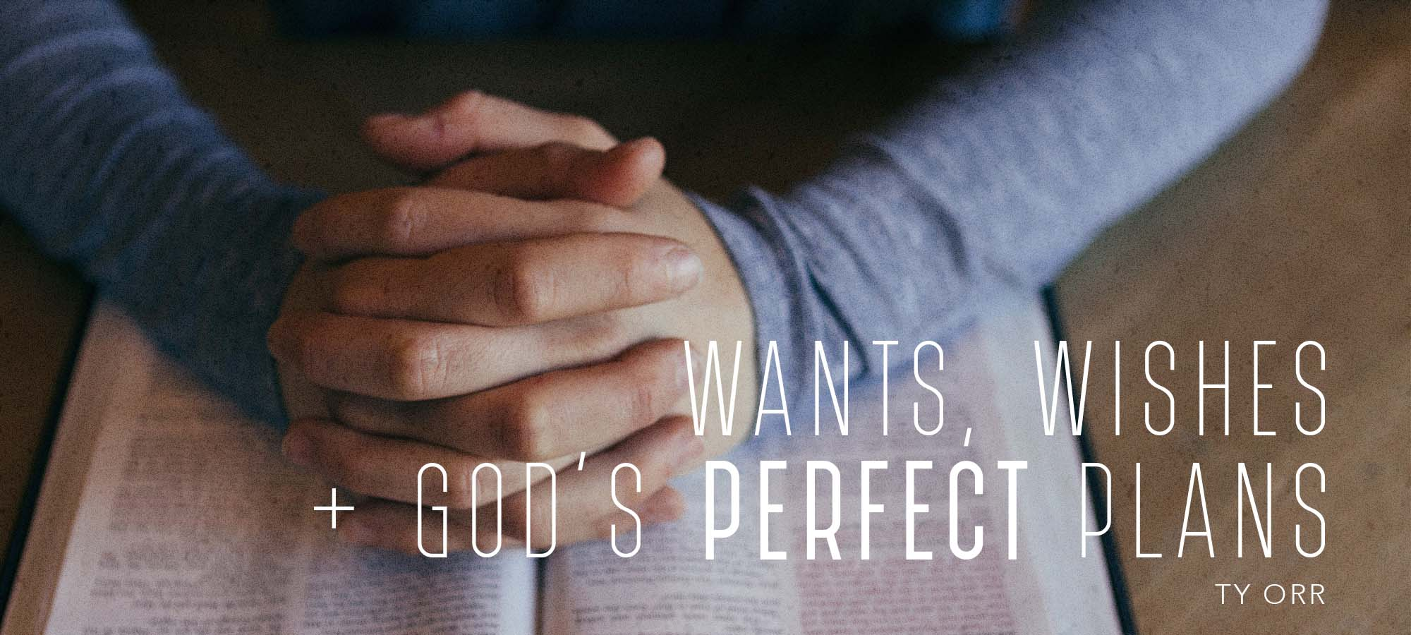 Wants, Wishes & God's Perfect Plans