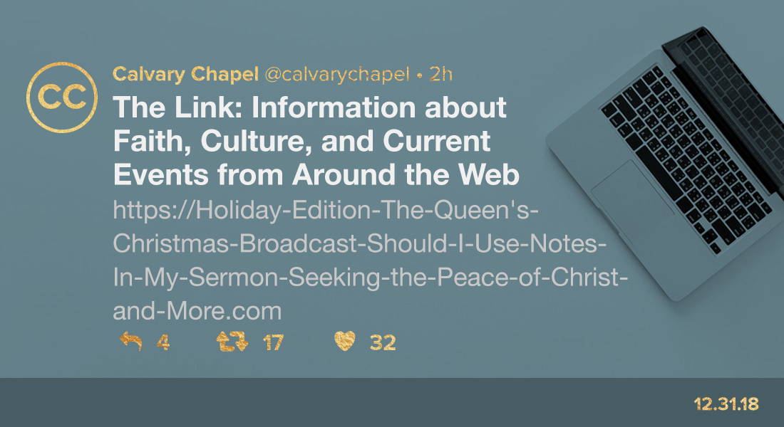 Holiday Edition: The Queen's Christmas Broadcast, Should I Use Notes in My Sermon & More