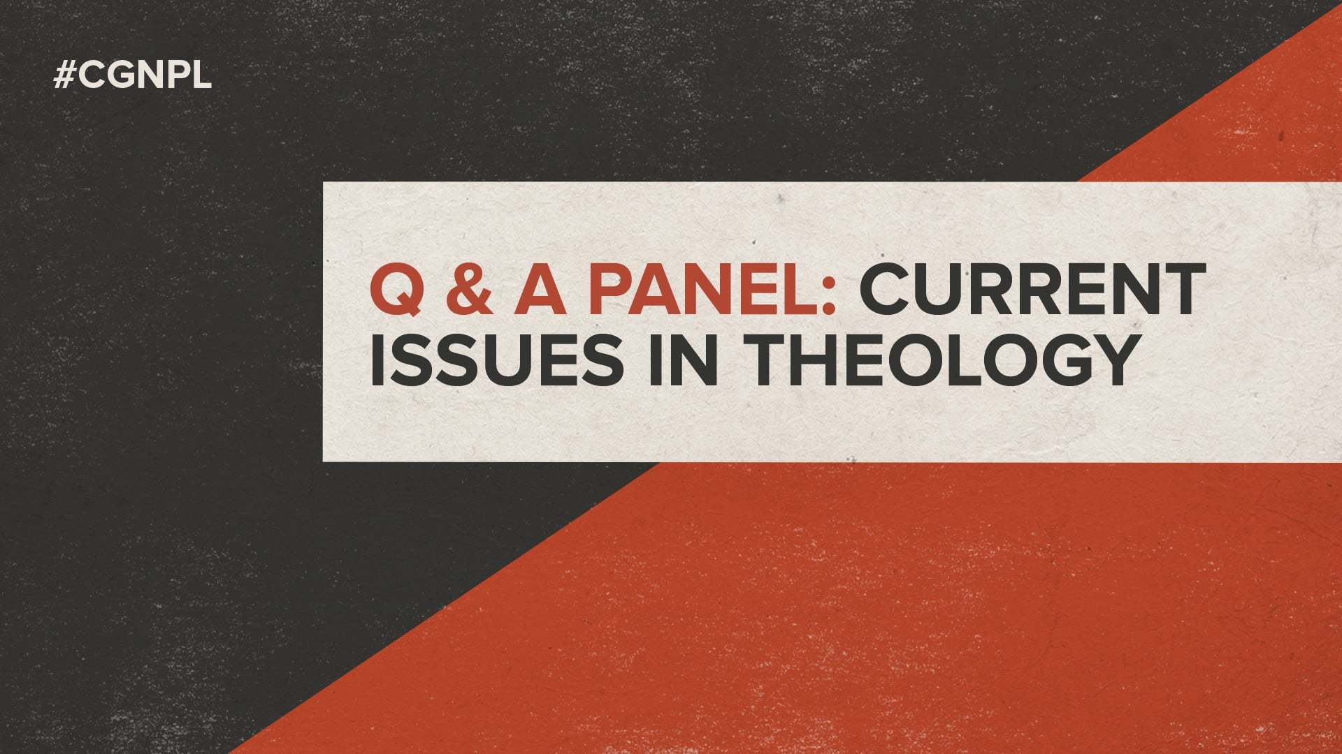 Q&A Panel: Current Issues in Theology