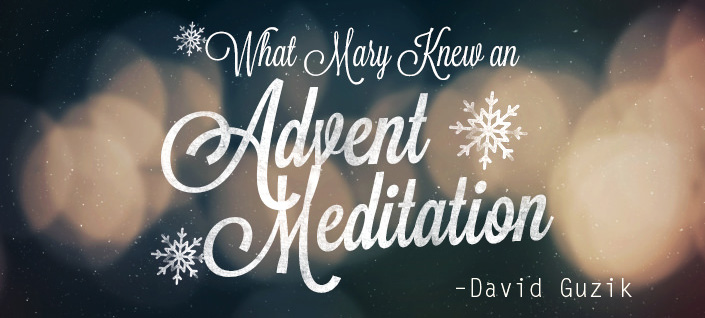 What Mary Knew an Advent Meditation