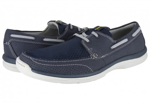 CLARKS 5156 NAVY SYNTHETIC MARUS EDGE  25-31