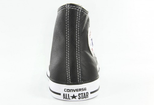 CONVERSE 132170 BLACK CHUCK TAYLOR LEATHER HI  23.0 AL 31.0