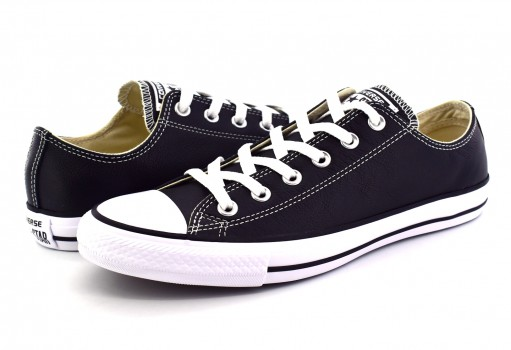 CONVERSE 132174 BLACK CHUCK TAYLOR ALL STAR LEATHER  23.0 AL 31.0