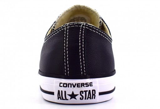 CONVERSE 132174 BLACK CHUCK TAYLOR ALL STAR LEATHER  23.0 AL 31.0