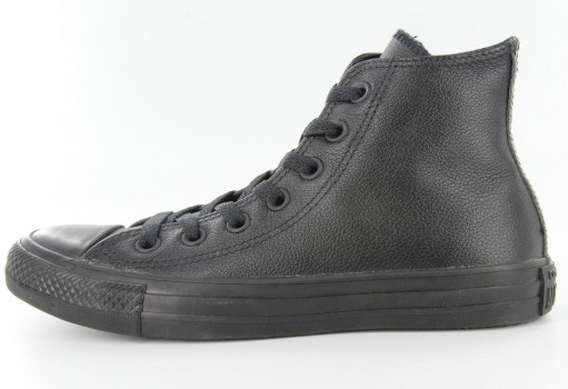 CONVERSE 135251 BLACK CHUCK TAYLOR LEATHER HI  23.0 AL 31.0