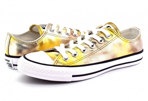 CONVERSE 157655 SILVER GOLD METALLIC CHUCK TAYLOR ALL STAR 22