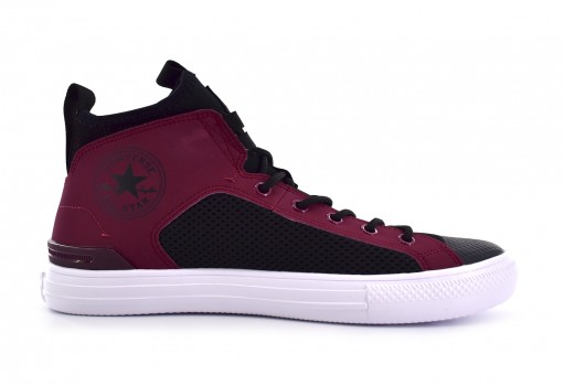 CONVERSE 161474 POMEGRANATE RED/BLACK/WHITE CHUCK TAYLOR ALL STAR ULTRA MID  25-30
