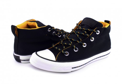 CONVERSE 162381 BLACK/BLACK/WHITE CHUCK TAYLOR ALL STAR STREET MID  25-30