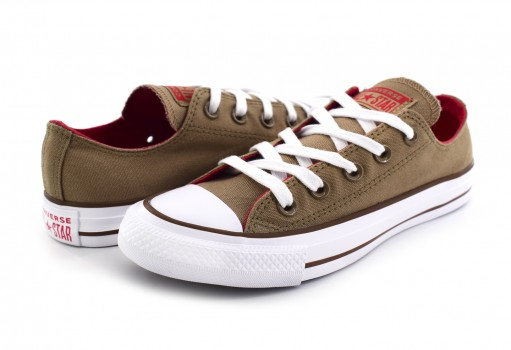 CONVERSE 162454 TEAK/CHERRY RED/CHESNUT BROWN CHUCK TAYLOR ALL STAR OX  23.0 AL 26.5