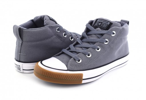 CONVERSE 162841 COOL GREY/WHITE CHUCK TAYLOR ALL STAR STREET MID  23.0 AL 31.0