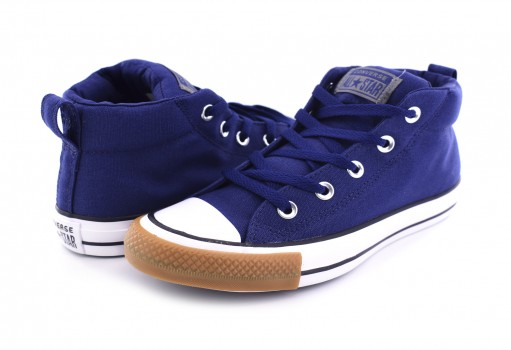 CONVERSE 162842 NAVY/WHITE/GUM HONEY CHUCK TAYLOR ALL STAR STREET MID  23.0 AL 31.0